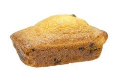 Raisin cake. Cake on white. This has a clipping path Royalty Free Stock Photos