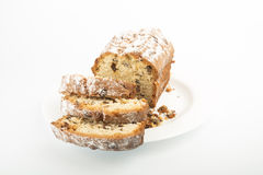 Raisin cake on plate Stock Image