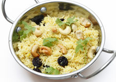 Raisin and cashew pilaf Royalty Free Stock Photo