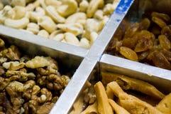 Raisin, cashew, walnuts and snacks in India Royalty Free Stock Photography