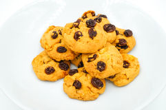 Raisin and cornflake cookies Stock Photo
