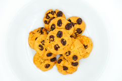 Raisin and cornflake cookies Stock Image