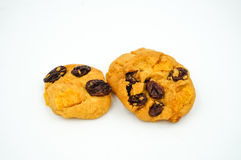 Raisin and cornflake cookies Stock Photos