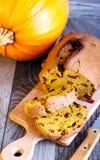 Raisin, cranberry pumpkin bread Stock Image