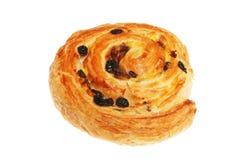 Raisin Danish. Pastry isolated on white royalty free stock photography