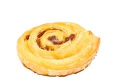 Raisin Danish Baked. Raisin Danish baked on white background stock images