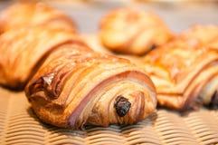 Raisin Danish pastry. Home made Danish pastry with raisin Stock Image