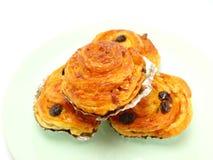 Raisin danish pastry Royalty Free Stock Photos