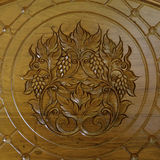 Raisin de gravure du bois de teck Photographie stock libre de droits