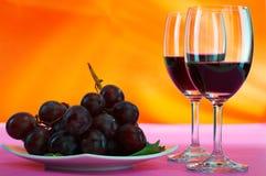 Raisin et vin Photos stock