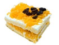 Raisin gold egg yolks thread cake Royalty Free Stock Images