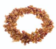 Raisin grains on a white background Royalty Free Stock Photos