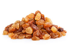 Raisin. Heap of raisin on a white background Royalty Free Stock Photography
