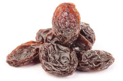 Raisin. The raisin isolated on white background Royalty Free Stock Photo