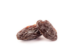 Raisin. The raisin isolated on white background Stock Photos