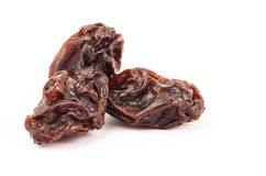 Raisin. The raisin isolated on white background Royalty Free Stock Image