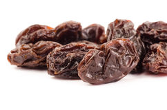 Raisin. The raisin isolated on white background Stock Image