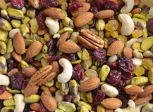 Raisin and Mixed nuts Royalty Free Stock Image
