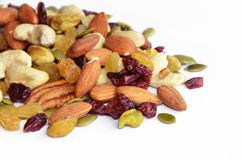 Raisin and Mixed nuts Stock Photo