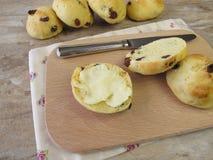 Raisin rolls for breakfast Stock Photos