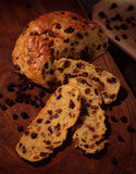 Raisin and saffron bread loaf Stock Image