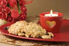 raisin sec de farine d'avoine de biscuits Image stock