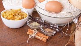 Raisin, sesame, sticks of cinnamon and vanilla Stock Photos