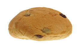 Raisin Sweet Bun Front View Stock Photo