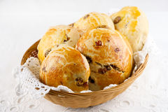 Raisin teacakes Royalty Free Stock Photo