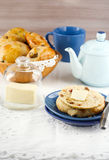 Raisin teacakes Stock Photos