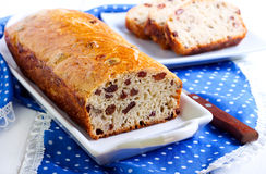Raisin and walnut bread Stock Photo