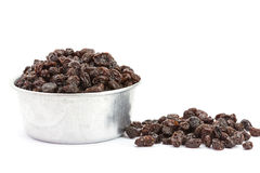 Raisin on a white background Stock Photos