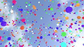 Raising Balloons stock illustration