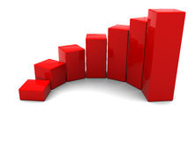 Raising charts Royalty Free Stock Photography