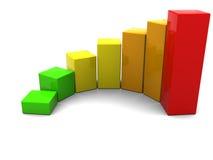Raising charts Royalty Free Stock Image