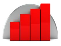 Raising charts Stock Image