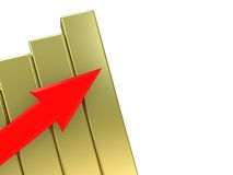 Raising charts Royalty Free Stock Photo