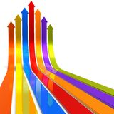 Raising color arrows Stock Image