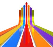 Raising color arrows Royalty Free Stock Photography