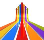 Raising color arrows royalty free illustration