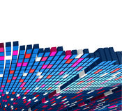 Raising cubes. Vector raising cubes- abstract background Stock Image