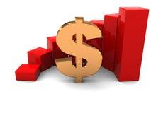 Raising dollar Stock Images
