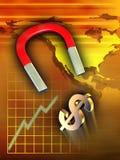 Raising dollar stock illustration