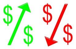 Raising and Falling Dollar Royalty Free Stock Photography