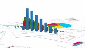 Raising financial charts vector illustration