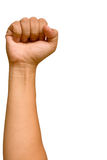 Raising a fist. Stock Photography