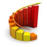 Raising graph Stock Image