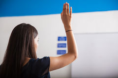 Raising a hand in class Stock Image