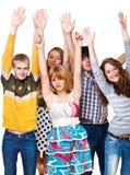 Raising hands Stock Photography