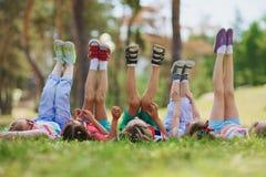 Raising legs Stock Photo